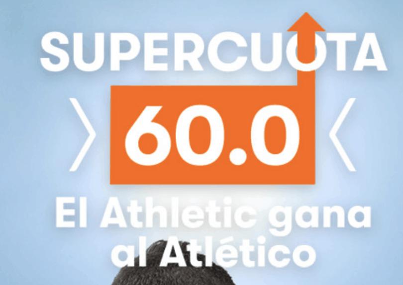 Supercuota Betsson Athletic gana al Atlético a cuota 60.