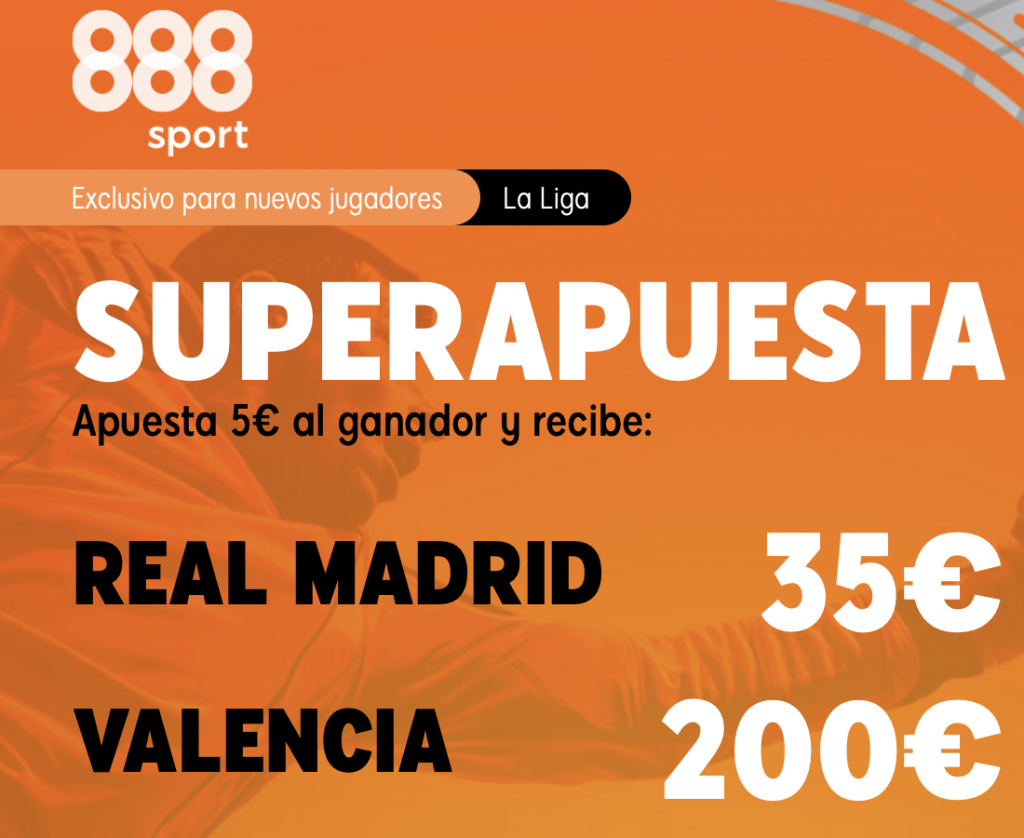 Supercuota 888sport Real Madrid - Valencia CF