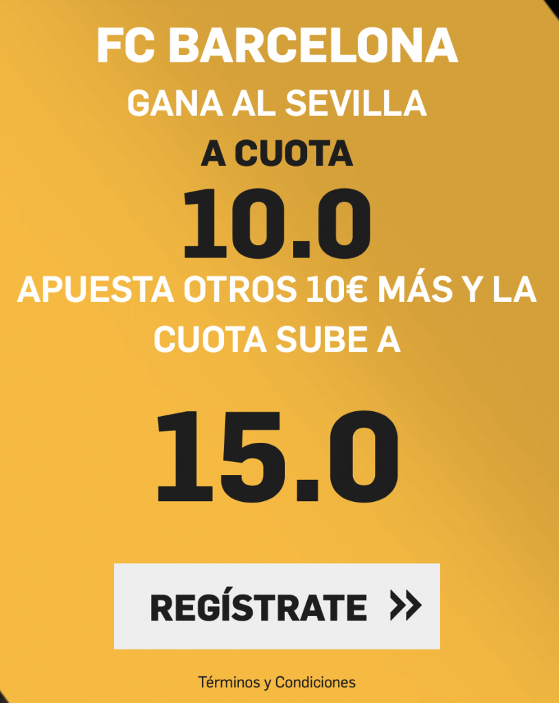 Supercuota betfair Sevilla FC - FC Barcelona