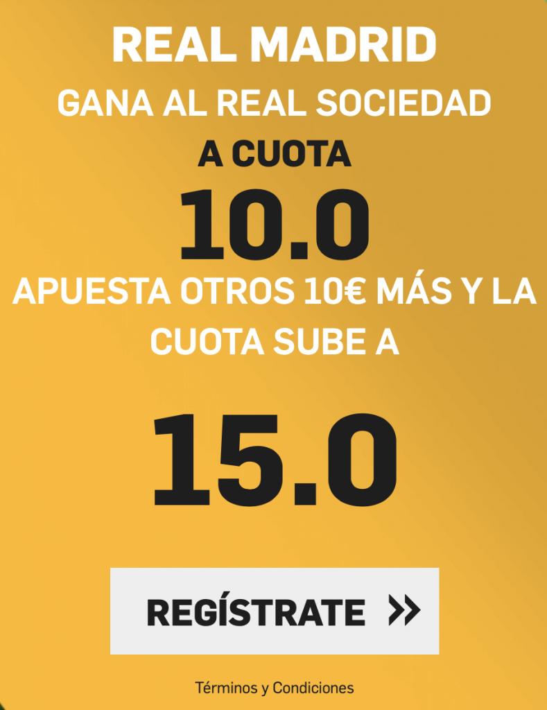 Supercuota betfair Real Sociedad - Real Madrid
