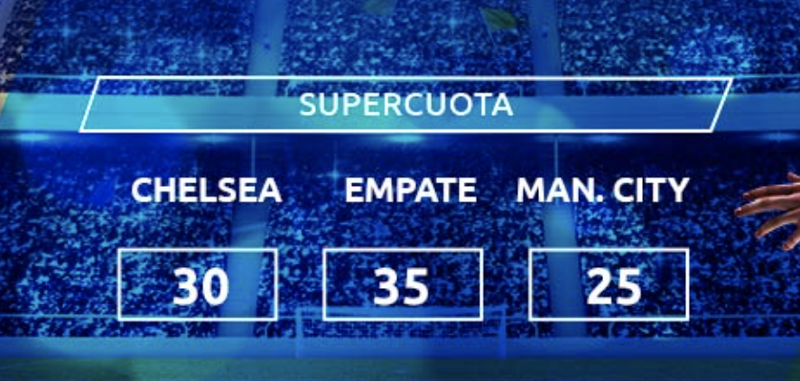 Supercuota Mondobets Chelsea - Manchester City