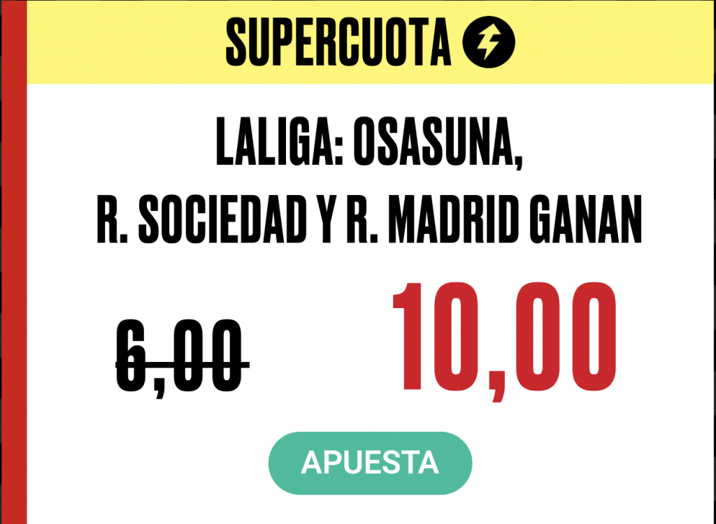 Supercuota PokerStars Sports Real Madrid - RCD Mallorca