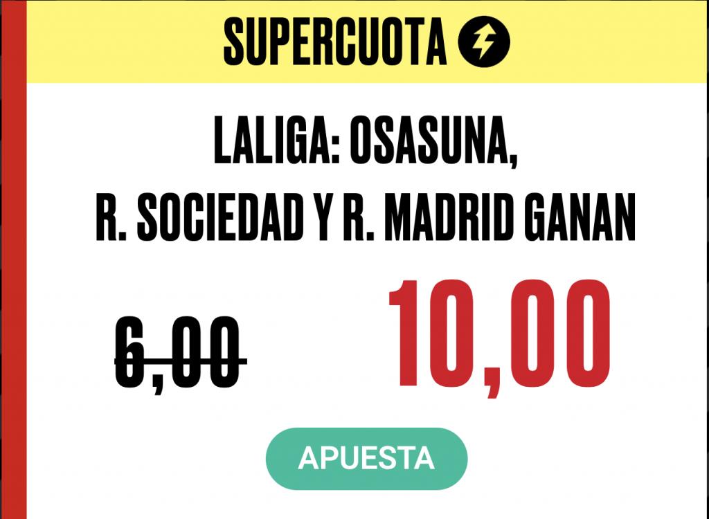 Supercuota PokerStars Sports Real Madrid - RCD Mallorca