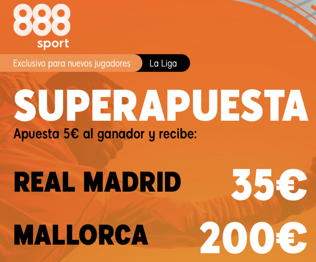Supercuota 888sport Real Madrid - RCD Mallorca.