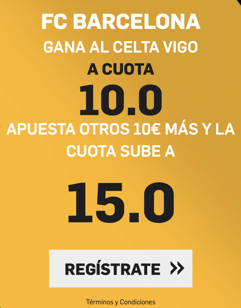 Supercuota Betfair Celta - FC Barcelona