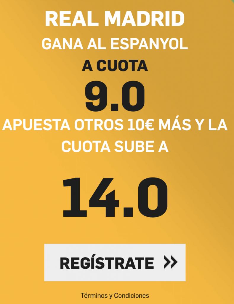Supercuota betfair Espanyol - Real Madrid