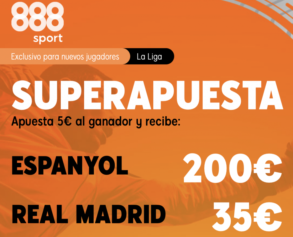 Supercuota 888sport Espanyol - Real Madrid