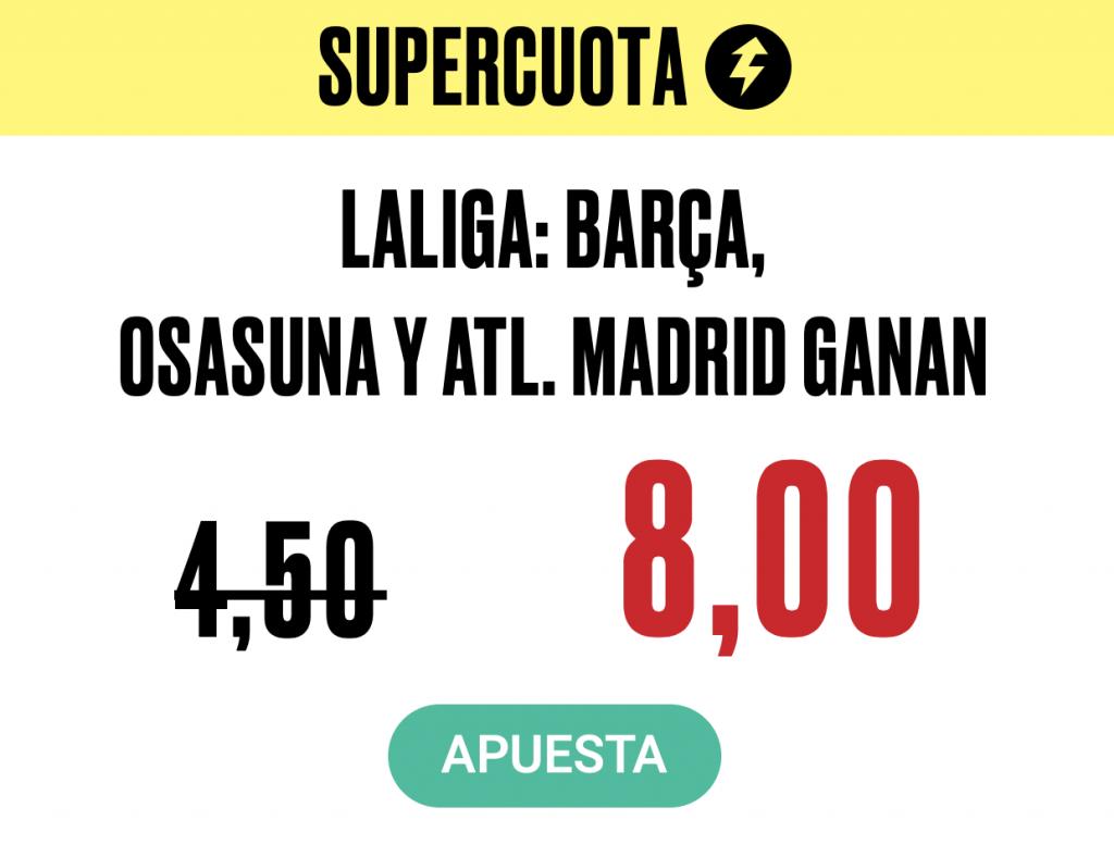 Supercuota Pokerstars Sports La Liga