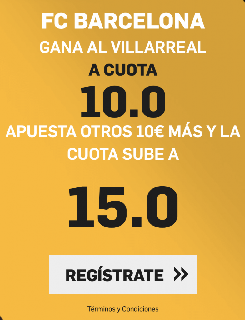 Supercuota Betfair Villarreal - FC Barcelona