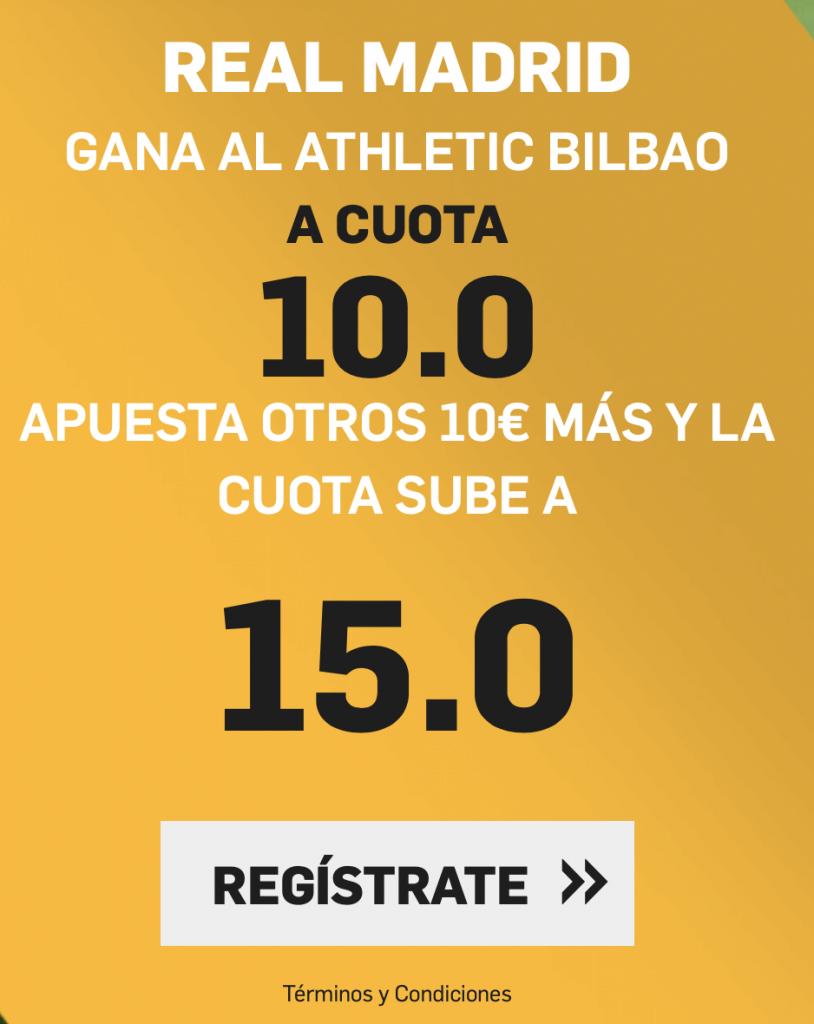 Supercuota betfair Athletic - Real Madrid