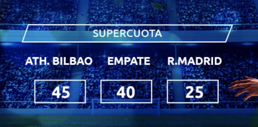 Supercuota Mondobets Athletic - Real Madrid