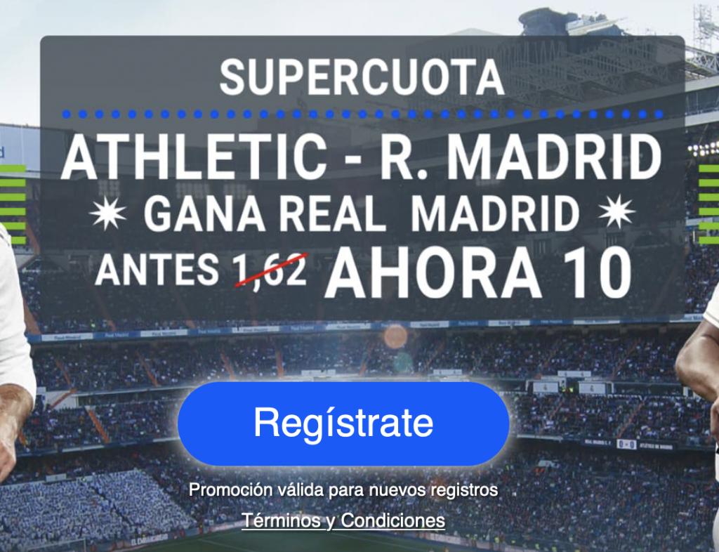 Supercuota Codere Liga : Athletic - Real Madrid