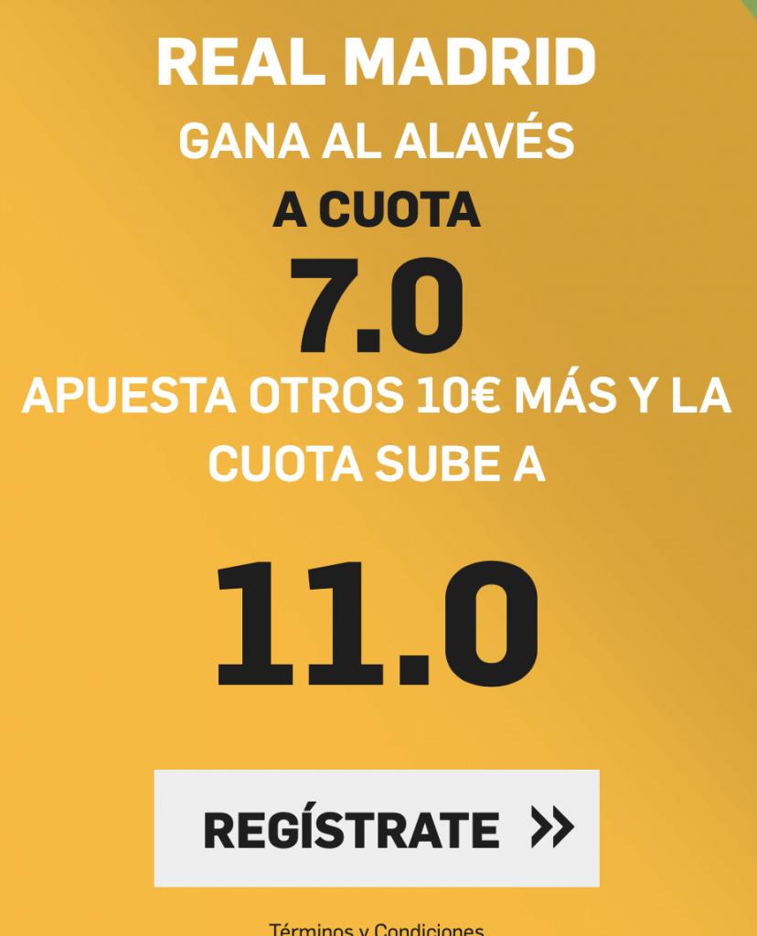 Supercuota betfair Real Madrid - Alavés