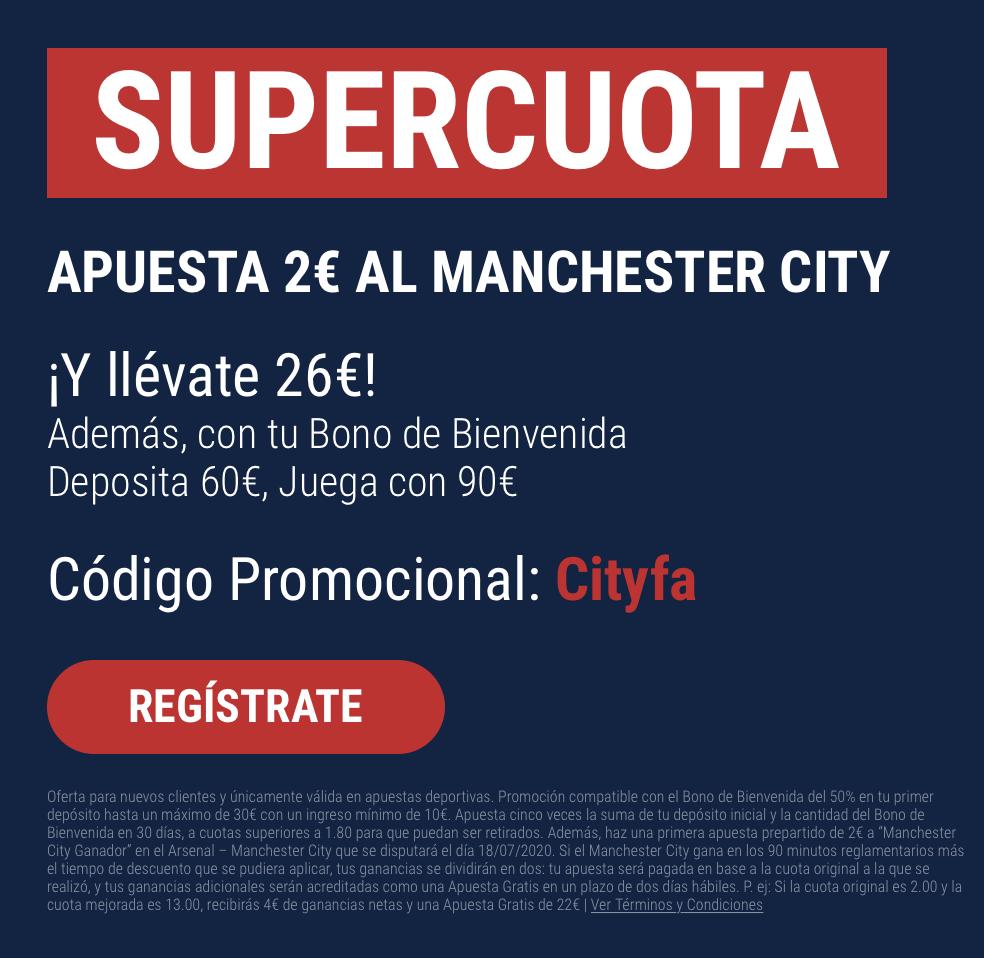 Supercuota Marathonbet Arsenal - Manchester City