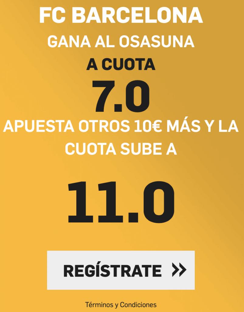 Supercuota betfair Fc Barcelona - Osasuna