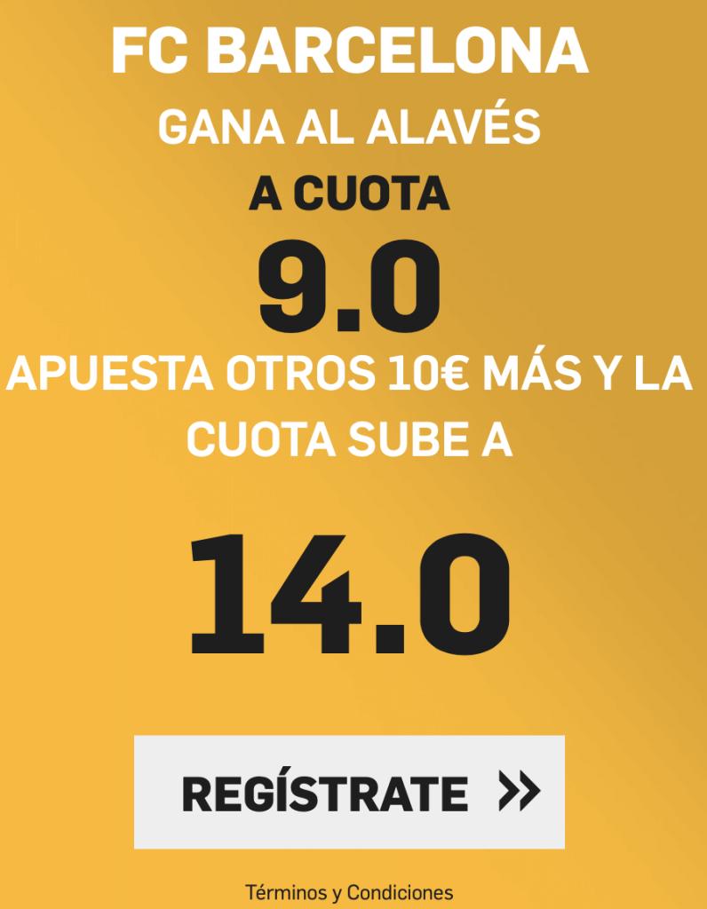 Supercuota betfair Alavés - FC Barcelona