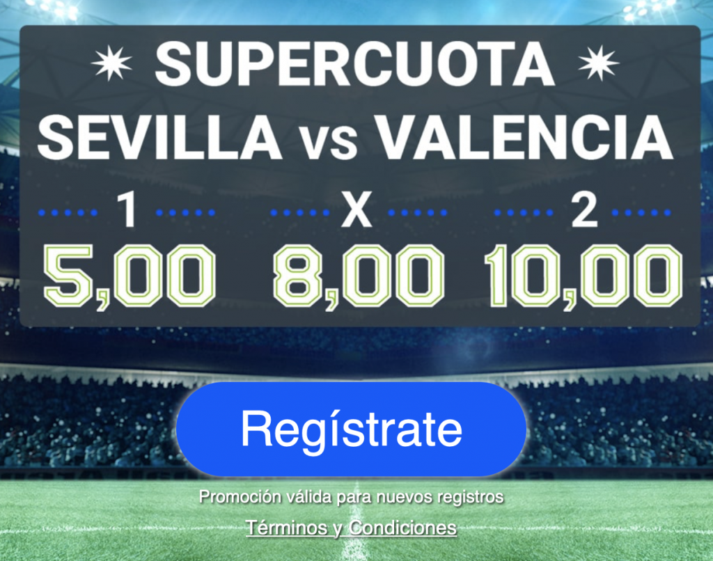 Supercuota Codere Sevilla - Valencia