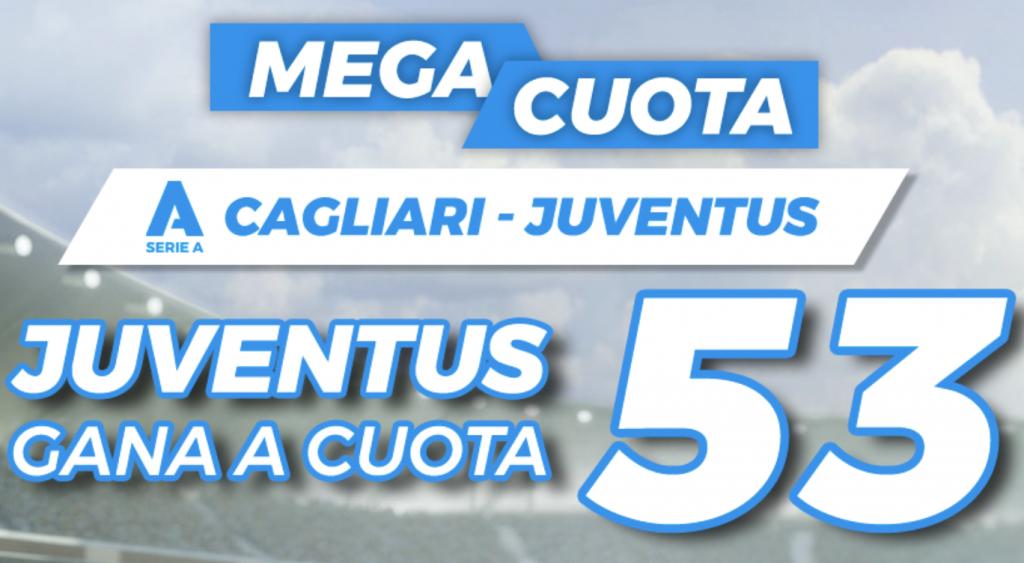 Supercuota pastón Cagliari - Juventus