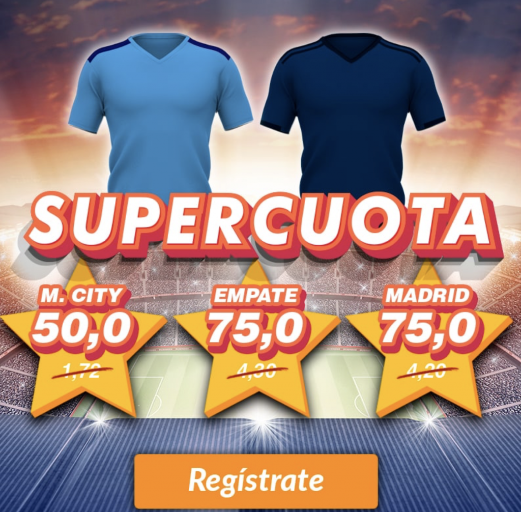 Supercuota Casino Barcelona Champions League : Manchester City - Real Madrid