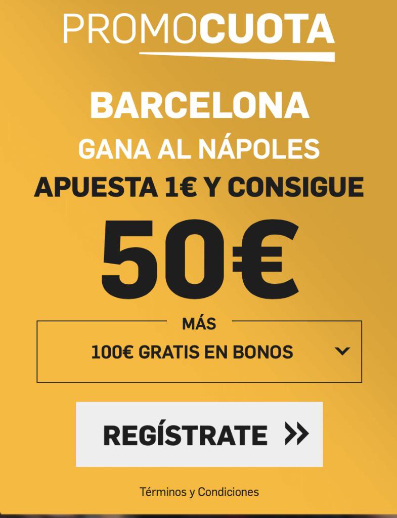 Supercuota betfair Champions League : Fc Barcelona - Nápoles