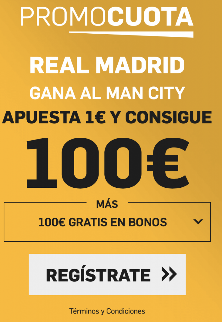 Supercuota betfair Champions League: Manchester City - Real Madrid