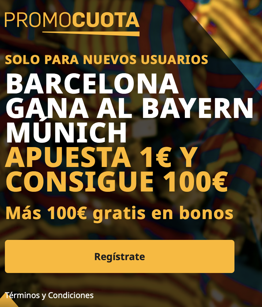 Supercuota betfair Champions League : Fc Barcelona - Bayern de Munich