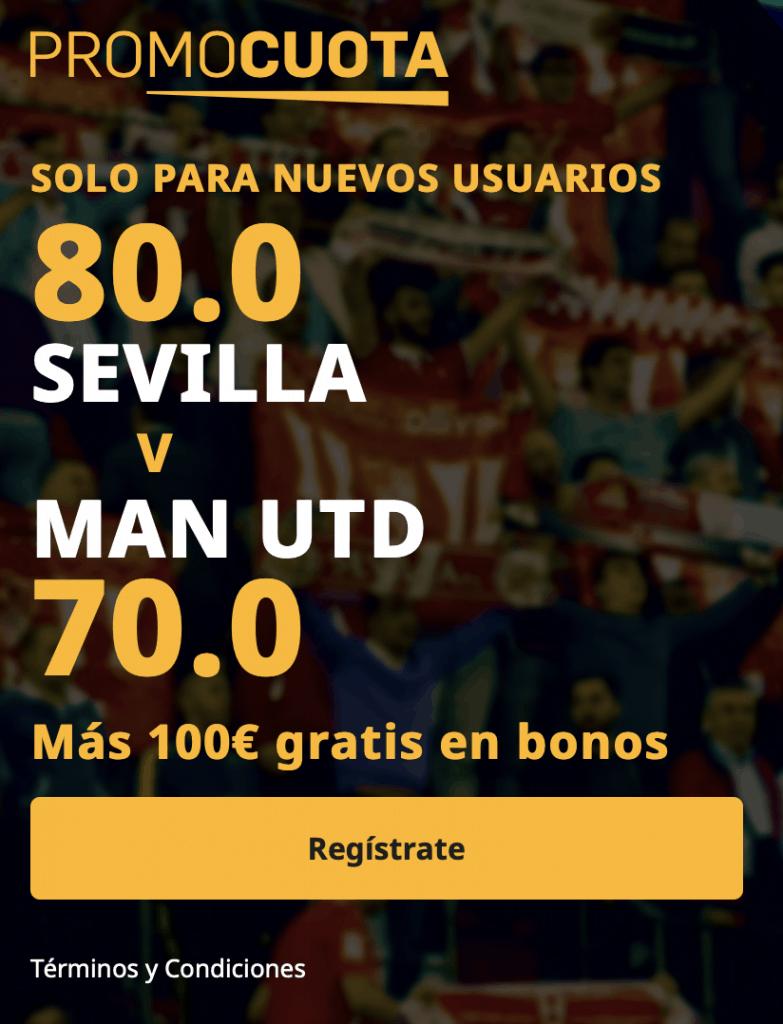 Supercuota betfair Europa League Sevilla - Manchester United.