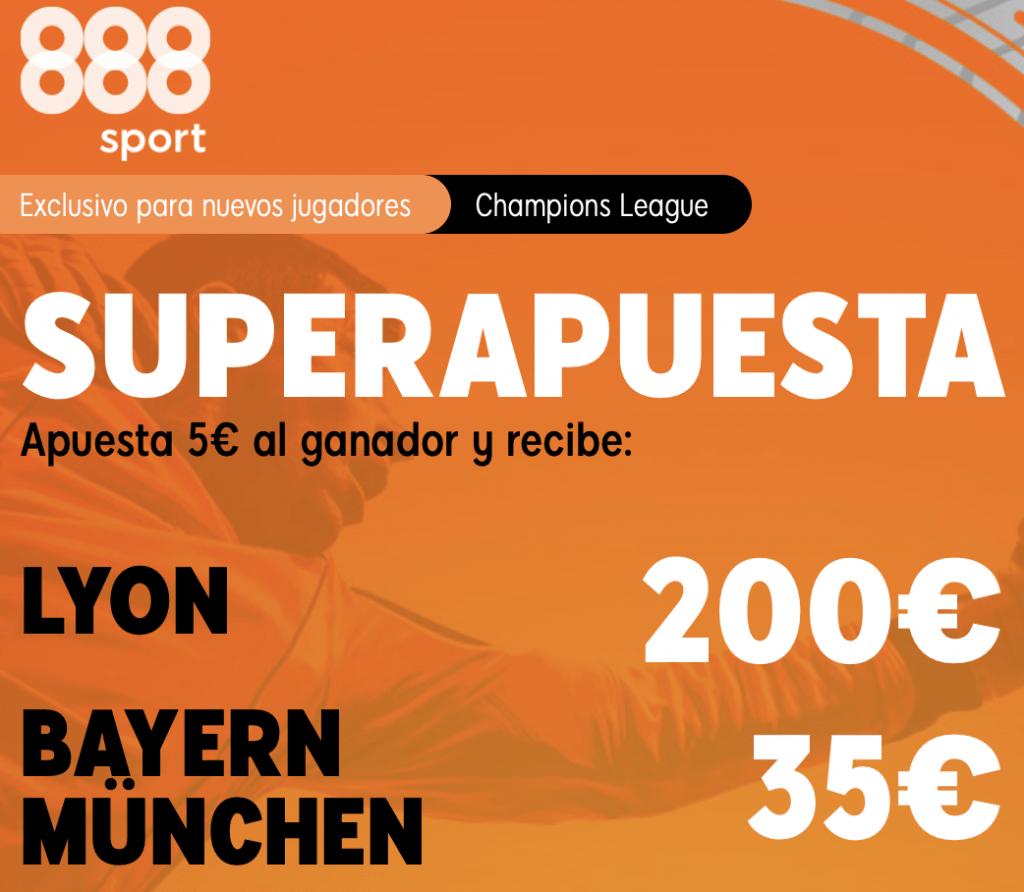 Supercuota 888sport Champions League : Lyon - Bayern Munich