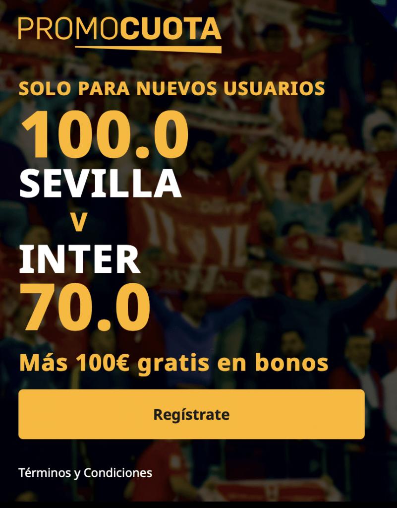 Supercuota betfair Europa League : Sevilla FC - Inter de Milán