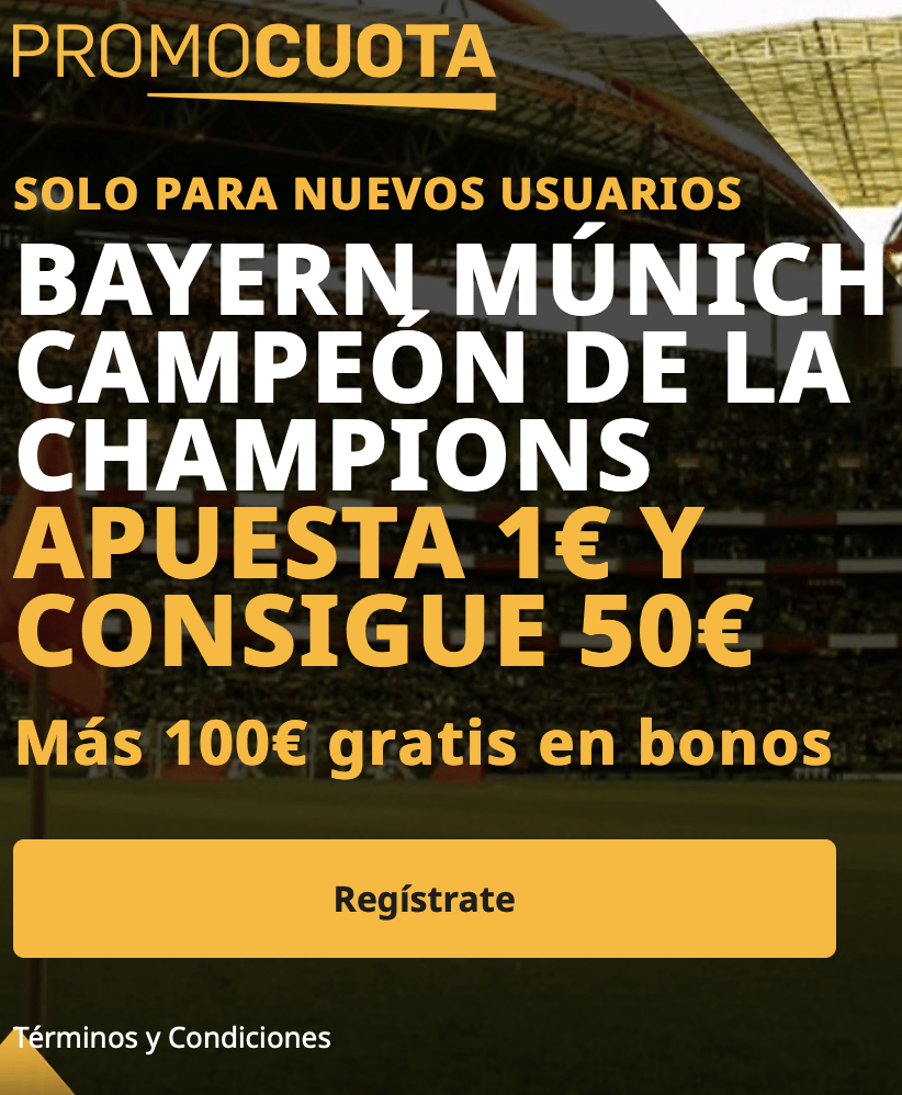 Supercuota betfair Champions League : PSG - Bayern Munich