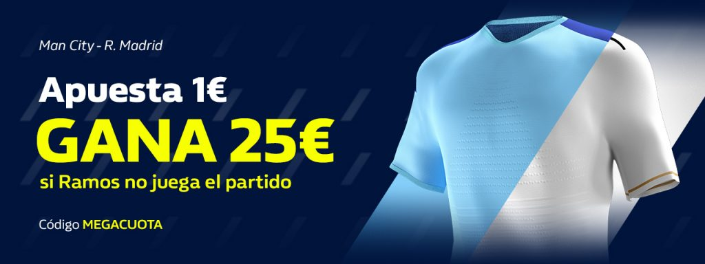 Supercuota William Hill Champions League : Manchester City - Real Madrid.