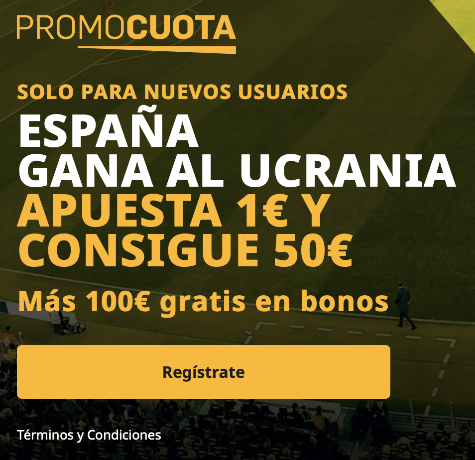 Supercuota betfair Nations League : España - Ucrania