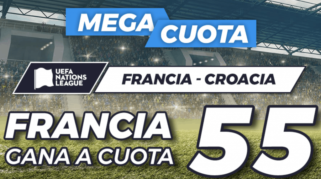 Supercuota Pastón Nations League : Francia - Croacia.