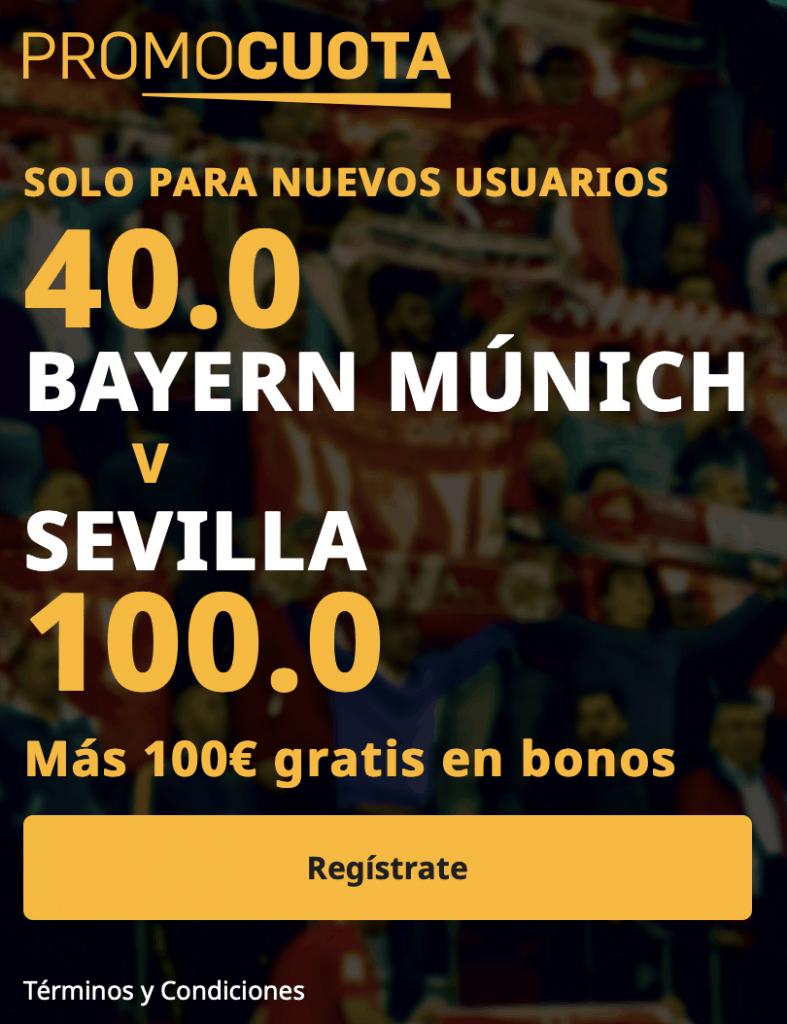 Supercuota betfair Supercopa de Europa : Bayern - Sevilla FC.