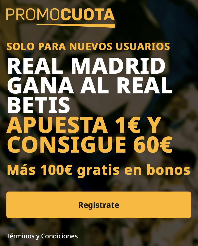Supercuota betfair La Liga : Real Betis - Real Madrid
