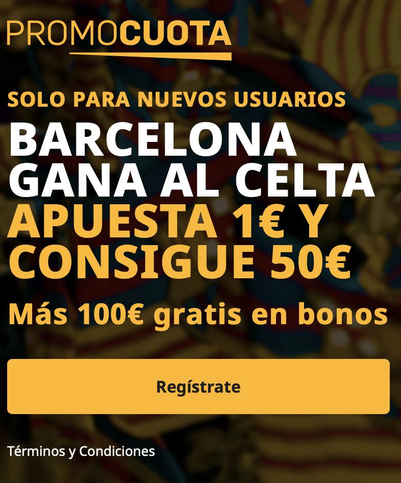 Supercuota betfair La Liga : Celta - FC Barcelona