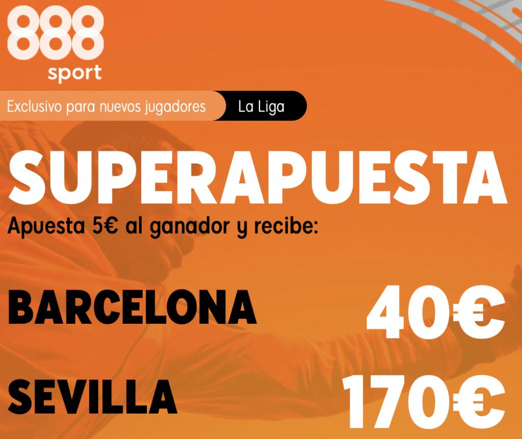 Supecuota 888sport La Liga : FC Barcelona - Sevilla FC