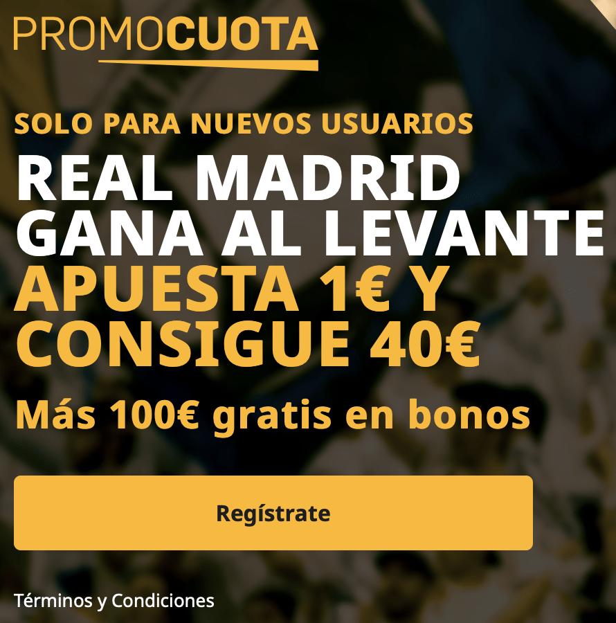 Supercuota betfair La Liga : Levante - Real Madrid.