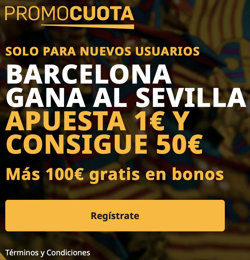 Supercuota betfair La Liga : Fc Barcelona - Sevilla FC