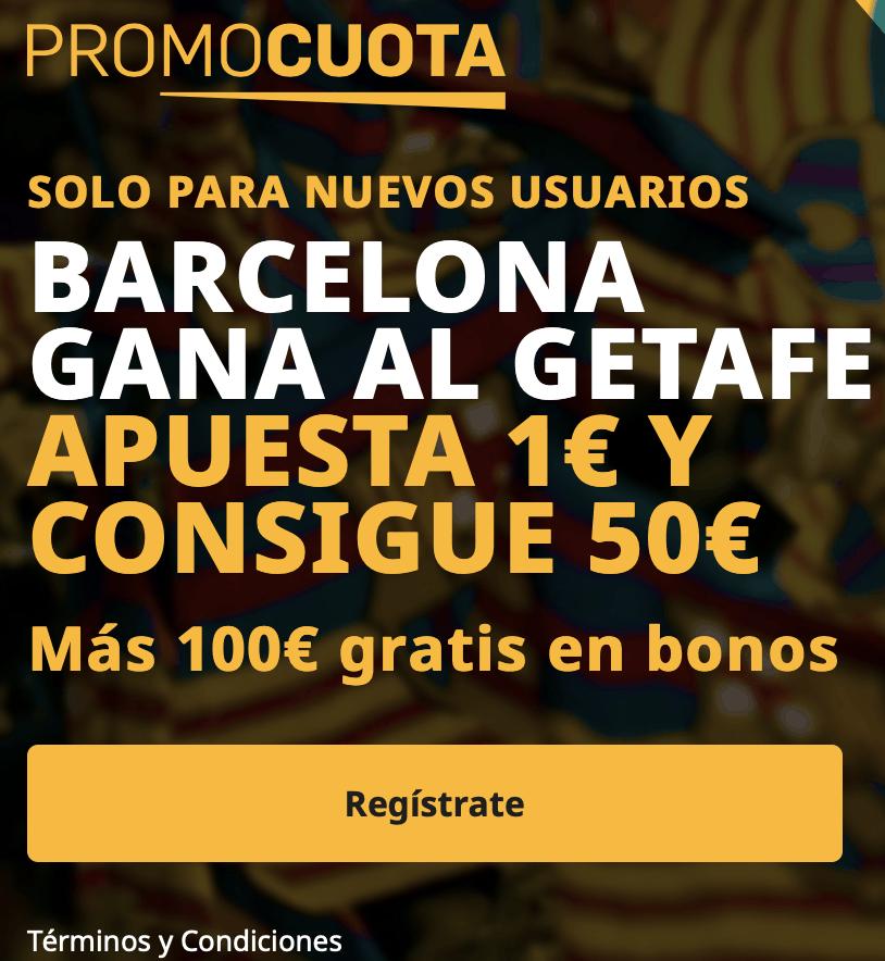 Supercuota betfair La Liga : Getafe - Fc Barcelona