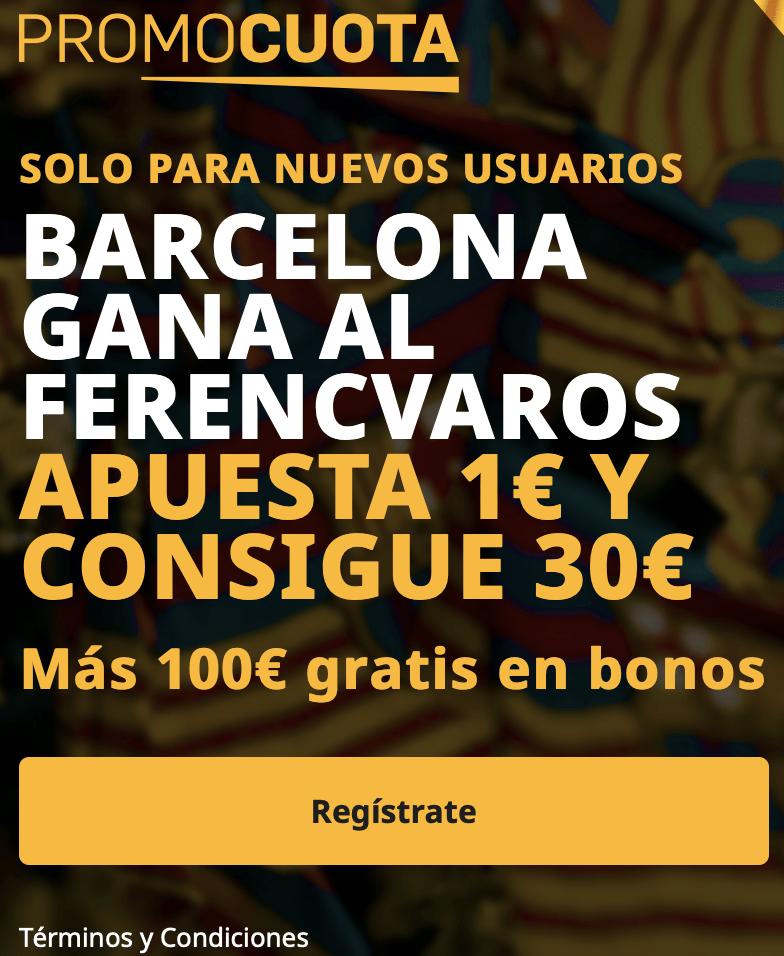 Supercuota betfair Champions League : Fc Barcelona - Ferencvaros.