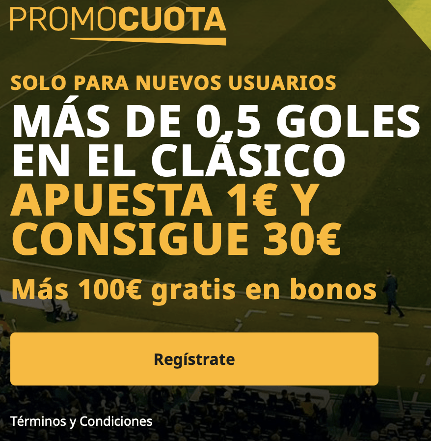 Supercuota betfair El Clásico : Fc Barcelona - Real Madrid.