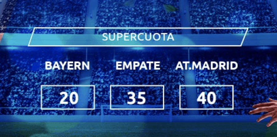 Supercuota Mondobets Champions League : Bayern - Atlético de Madrid