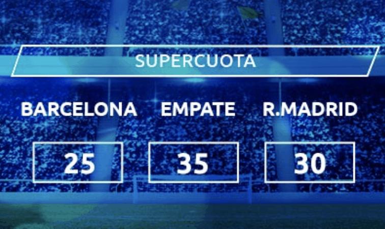 Supercuota Mondobets El Clásico : Fc Barcelona - Real Madrid .