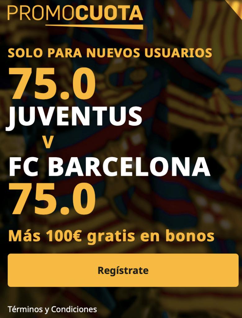 Supercuota betfair Champions League Juventus - Fc Barcelona.