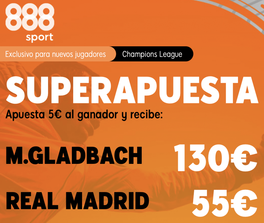 Supercuota Champions League Borussia MonchenGladbach - Real Madrid.