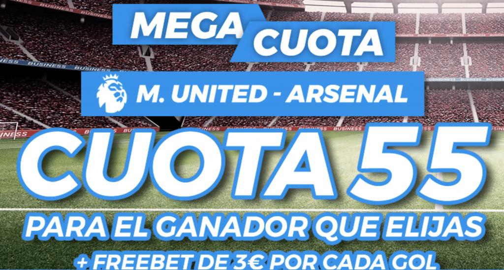 Supercuota Pastón Premier League: Manchester United - Arsenal