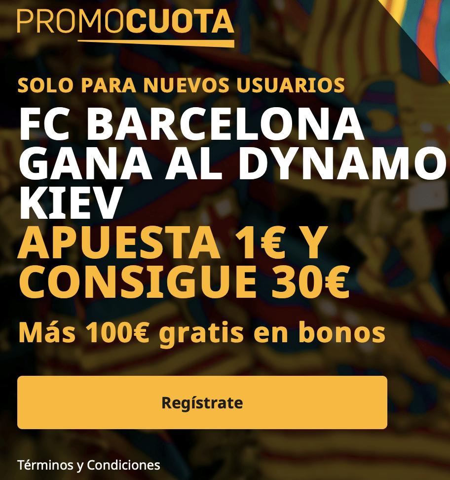 Supercuota betfair Champions League : Fc Barcelona - Dinamo de Kiev