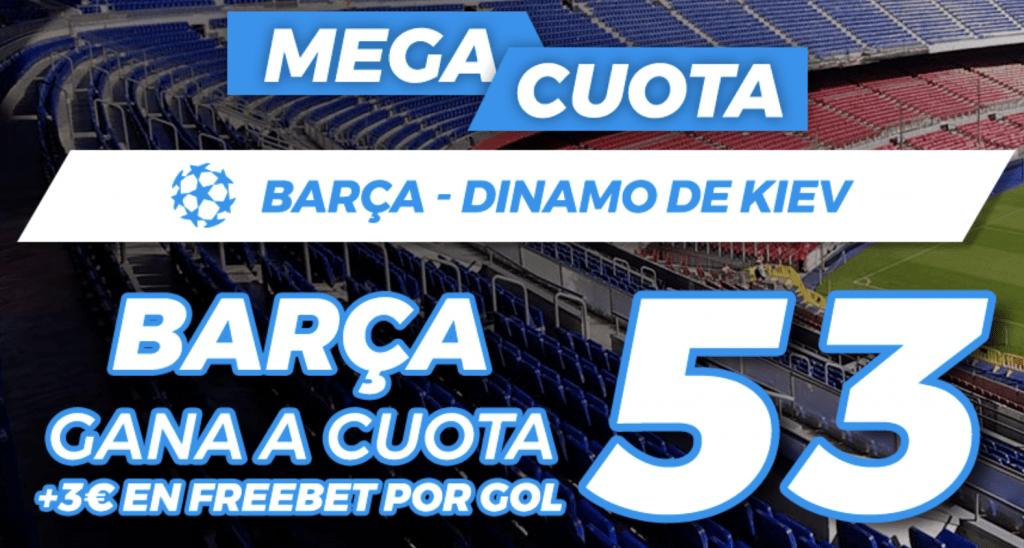 Supercuota Pastón Champions League : Fc Barcelona - Dinamo Kiev.