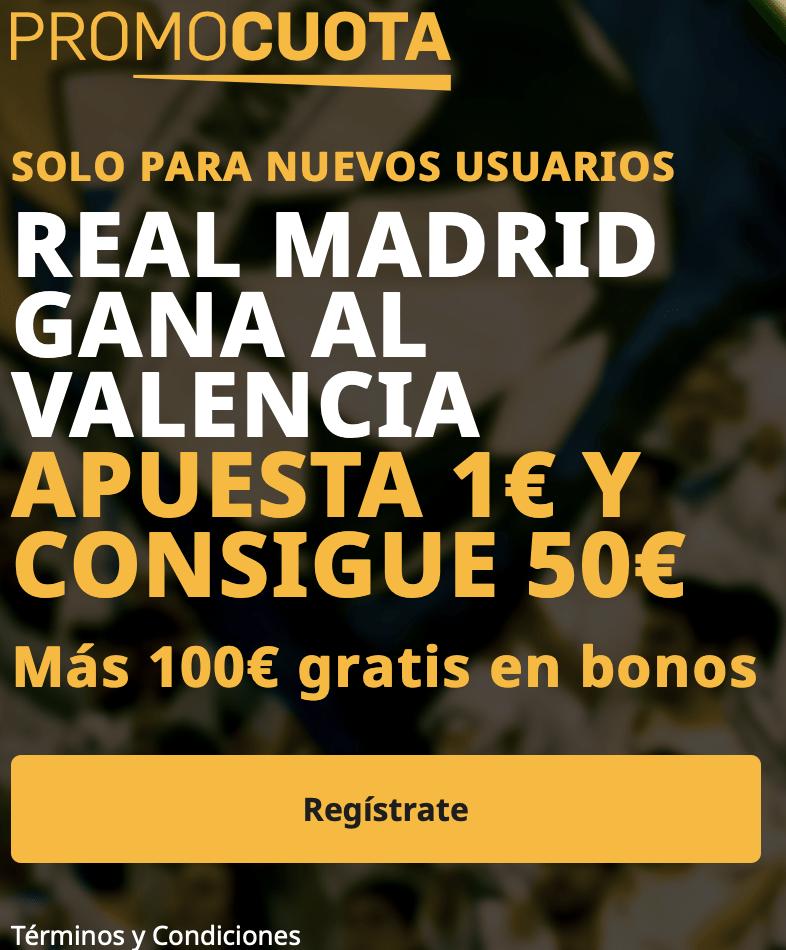 Supercuota betfair La Liga : Valencia - Real Madrid
